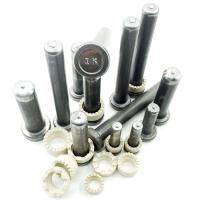 Carbon steel shear stud connector for bridge construction with standard AWS D1.1