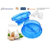 Quality Injection Plastic Kitchenware Products Clear Polycarbonate Garlic Grinder Blue Color for sale