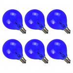 Quality Wax Warmer Bulbs Incandescent globe Light Bulb filament , G50 Round 25 Watt Blue standard light bulb for sale