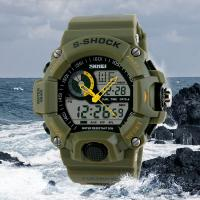 Quality 5 ATM Strong Water Resistant Skmei Latest Unisex 3 ATM Analog Digital Wrist Watch for sale