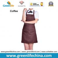 Quality Dirty resistant coffee color unisex working apron with 2pockets for coffee shop waiters for sale