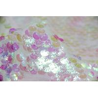 Quality Creative Pink Round Shell Sequin Fabric for sale