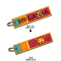 Quality Custom Embroidered Key Tags Personalized Embroidered Keychains Merrow Border for sale