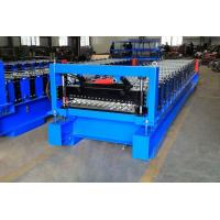 Quality High Efficiency Corrugated Roof Roll Forming Machine With Cr12Mov Cutter for sale