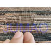 Buy cheap Black And Copper Color Glass Laminated Metal Mesh Fabric With Images from wholesalers