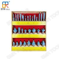 China Industrial Quality 30pcs Wooden Box Packed 1/2 Shank Carbide Multi-Purpose Router Bit Set on sale