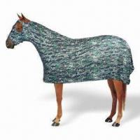 Quality Lycra Full Sheet Horse Blanket in Camouflage-green Pattern for sale