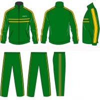 Best OEM Green / Yellow Fiber Team Training Tracksuits Sportswear Opened/Zipped Pants Pocket wholesale