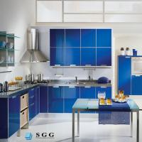 Quality Excellence quality blue tempered painted glass for sale