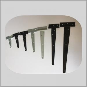 Quality Plastic Spray T Strap Hinges , Barn Door Strap Hinges Black Color For Fence Door for sale