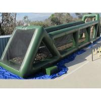 China High 80ft Green Inflatable Sports Games Long Giant Inflatable Zip Line For Adults on sale
