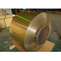 Quality Air Conditioner Hydrophilic Coated Roll Of Aluminum Coil 0.06-0.2mm Golden 1100, 3003, 3102, 8011 for sale
