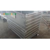 Quality Stackable  Pallet Rack Wire Decking Foldable Warehouse Storage Fit For Wheel for sale