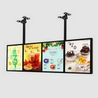China Free Standing Double-sided advertising display backlit led light box with built-in high power strips and driver on sale