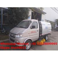 China 2019s new design cheapest Chang'an gasoline 4*2 4 wheels mini road sweeping vehicle for sale, street sweeper truck on sale