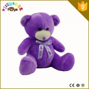Quality Custom plush toy, china plush toy animals,purple teddy bear plush toy for sale