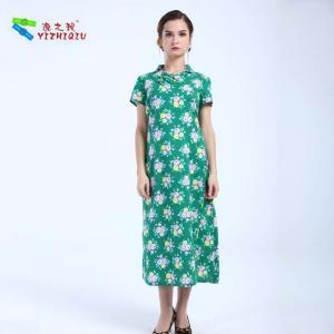 China YIZHIQIU Custom Design Lady Color Loose Long Dress on sale