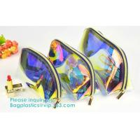 Buy cheap Holographic Color Bag Neon Bag Clear Pvc Cosmetic Make Up Bag in Rainbow from wholesalers