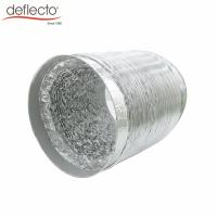 Quality HVAC Parts Flexible Aluminum Air Duct Paster Connector Air Duct 4'' 100 MM 32 Ft for sale