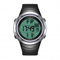 China Interchangeable Bezel Silicone Sports Watch , Backlight Lcd Digital Watch on sale