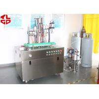 China Efficient Can Filling Machine For Adhesive Remover Spray Semi Automatic 800-1100cans/Hour on sale
