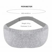 China Ultra Soft Gray Memory Foam Eye Mask For Relaxation Spa Adjustable Strap Design on sale