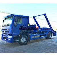 Quality 4x2 HOWO 10m3 / 12m3 Swing Arm Garbage Truck, Skip Loader Garbage Collection Truck for sale