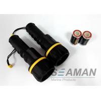 Quality Water Proof Plastic Rubber 3 Led Torch Marine Boat Flashlight Dry Battery for sale