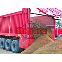 Quality Corn / Wheat Transport Semi Dump Trailers 3 Axle Self Unloading Trailer for sale