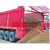 Buy cheap Corn / Wheat Transport Semi Dump Trailers 3 Axle Self Unloading Trailer from wholesalers