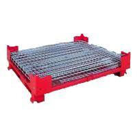 Quality Euro Type Auto Parts Storage Foldable Collapsible Mesh Pallet Box for sale