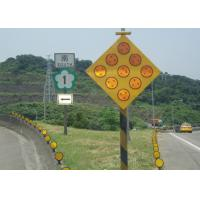 Yellow Solar Powered Traffic Signals , LED Solar Powered Warning Lights