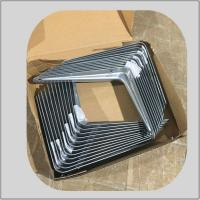 Quality angle steel grey  bracket iron type corner support for furniture hardware fitting  for supermarket using for sale