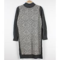 Best Wool Long Ladies Sweater Dresses With Lace Front Classic Clothes wholesale