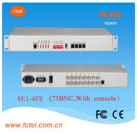 Quality console managed Interface converter of 8e1 to 4FE protocol , with AC DC power supply for sale