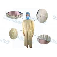 Quality PP Light Yellow Disposable Isolation Gowns Protective Surgery Clothing for sale