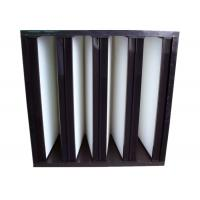 Quality Secondary V Cell Industrial Air Filters Fiberglass Air Filter With ABS Plastic Frame for sale