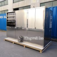 China Kingwell clear automatic ice cube maker for restaurant/bars/supermarkets/cold drink shops on sale