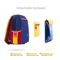 Quality NHZ021-8 new arrival PU and polyester waterproof lightweight primary school student school backpack sets for sale