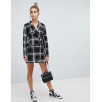 Buy cheap OEM high quality girls multi check print blazer dress from wholesalers