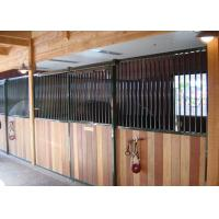 China Horse Riding Club Prefab Horse Stalls , Powder Coated Metal Horse Stalls on sale