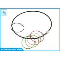 Quality Galvanized Cable Loop Key Ring Colorful Traveler Key Shackle Wire Loop for sale