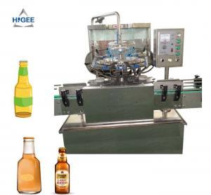 Quality Glass Bottle Small Beer Bottling Machine / Small Scale Beer Bottling Equipment for sale