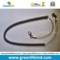 Quality Heavy Duty High Pulling Wire Inside Plastic Spring Coiled Lanyard for sale