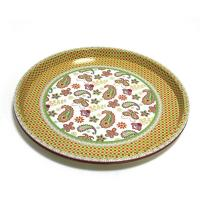 Quality Round Deep Serving Metal Tray for sale