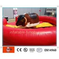 Best OEM Inflatable Sports Games , Red Bull Inflatable Mechanical Bull wholesale