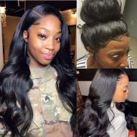 China 360 Lace Frontal Wigs Brazilian Human Hair Extensions Body Wave Natural Color on sale