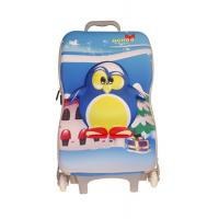 Quality Penguin Pattern Kids Travel Bags / Toddler Rolling Luggage Water Resistance for sale