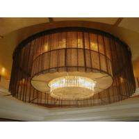 Quality Metal Coil Drapery Architectural Metal Mesh Fabric Drapery Curtains for sale
