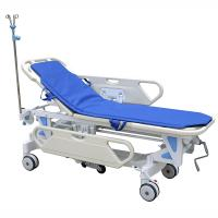 Quality Galvanized Steel Patient Transfer Trolley With Manual Crank 630 - 930mm Height Adjustment for sale